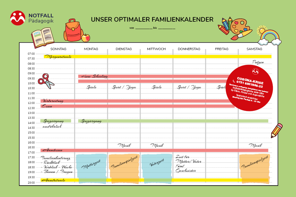 Unser optimaler Familienkalender